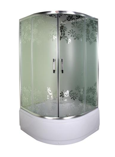 Душевой уголок Parly Z90 Матовое стекло с цветком. душевой уголок rgw pa 41 pa 11 z 01 90х120х195 стекло матовое