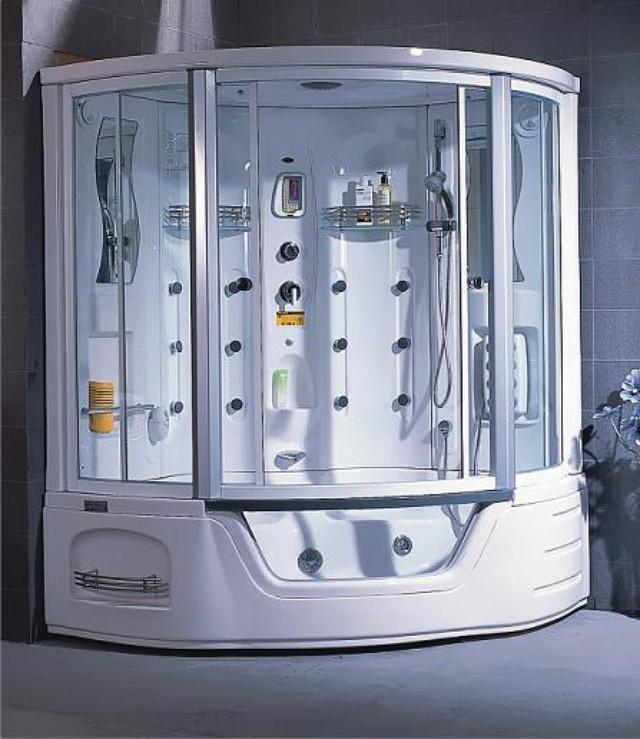 A-0818А с паромДушевые боксы<br>Душевой бокс Appollo A-0818А. Гидромассаж, турецкая баня, душ, массаж тела, ног, радио, электронная панель управления, подсветка в кабине, подключение к CD, прием телефонных звонков, озонирование, гидромассаж в ванной, аэромассаж в ванной.<br>