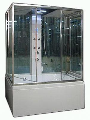 А-8032 II С гидромассажем и паромДушевые боксы<br>Душевая кабина Appollo А-8032 II. Прозрачное стекло, сенсорная панель управления, спинной массаж,  турецкая баня, подсветка, вентиляция, наличие полочек, зеркало, прием телефонных звонков, радио, подключение CD, озонирование, высокоинтелектуальная панель управления с функциями выдачи ошибок работы кабины, смеситель, верхний и ручной душ, гидромассаж в ванной.<br>