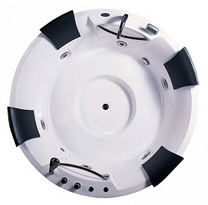АТ-0949 С гидромассажемВанны<br>Акриловая ванна Appollo АТ-0949 c гидромассажем. Электронная панель управления, подголовники, гидромассажный насос, душевая лейка, сидение, смеситель.<br>