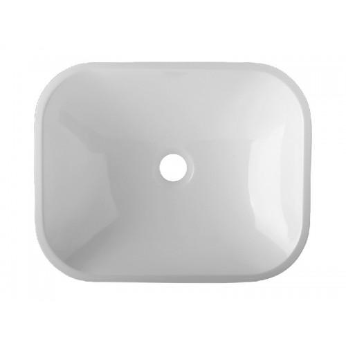 Notte БелаяРаковины<br>Раковина накладная Relisan Notte прямоугольная, из литьевого мрамора. Цена указана непосредственно за раковину - все остальное приобретается дополнительно. Цвет белый.<br>