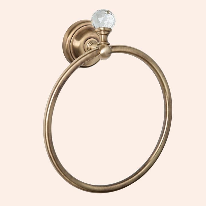 Crystal TWCR015 БронзаАксессуары для ванной<br>Полотенцедержатель кольцо TW Crystal TWCR015br-sw. Цвет держателя бронза с кристаллом (swarovski).<br>