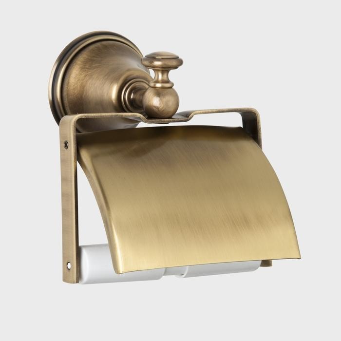 Crystal TWCR219 БронзаАксессуары для ванной<br>Держатель для туалетной бумаги с крышкой TW Crystal TWCR219br. Цвет бронза.<br>