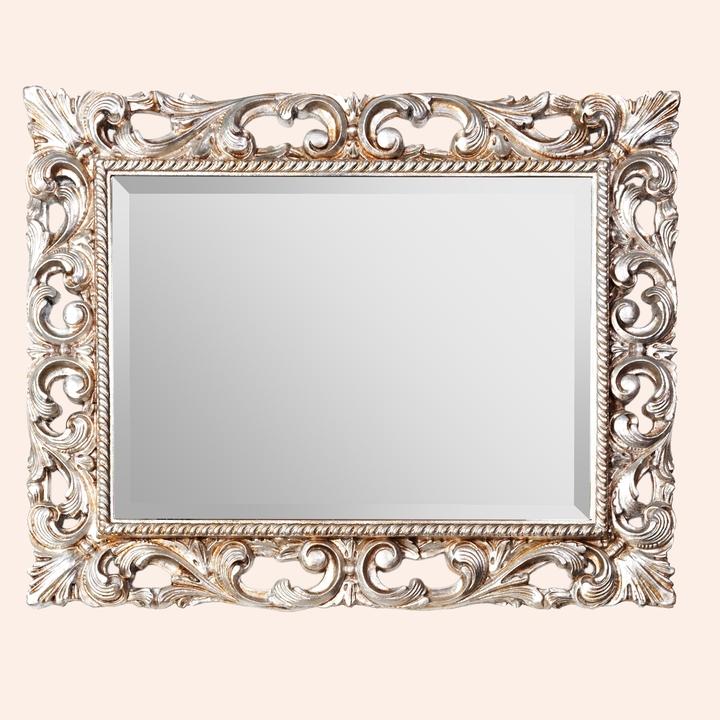 TWSP030 античное сереброМебель для ванной<br>Зеркало прямоугольное с фацетом TW TWSP030arg/antico, крепление: вертикальное/горизонтальное, рама дерево, цвет античное серебро.<br>