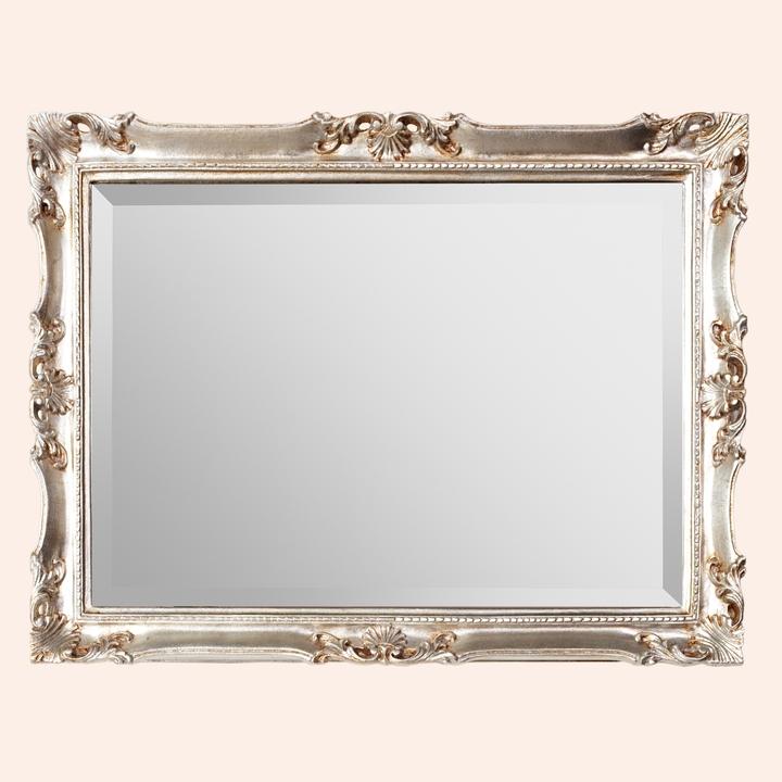 TWSP031 золотоМебель для ванной<br>Зеркало прямоугольное TW TWSP031oro с фацетом, крепление: вертикальное/горизонтальное, рама c орнаментом дерево, цвет золото.<br>