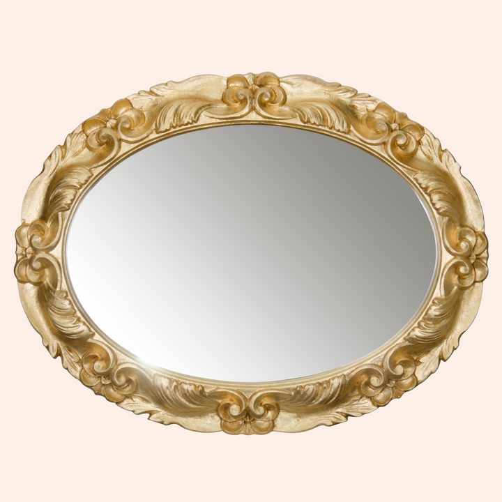 TWSP032  бронзаМебель для ванной<br>Зеркало овальное TW TWSP032oro. Рама  дерево, цвет золото.<br>