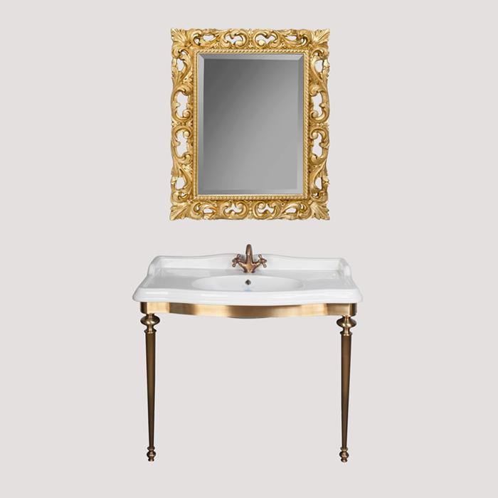 Bristol TWBR874.2br БронзаМебель для ванной<br>Консоль  металлическая под раковину TW Bristol TWBR874.2br. Материал латунь, цвет отделки бронза. Раковина приобретается отдельно.<br>