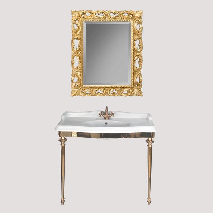 Bristol TWBR874.3oro ЗолотоМебель для ванной<br>Консоль  металлическая под раковину TW Bristol TWBR874.3oro. Материал латунь, цвет отделки золото. Раковина приобретается отдельно.<br>