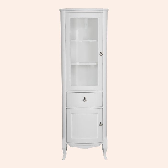 Retro 4221 bi puro L Белый матовыйМебель для ванной<br>Шкаф-колонна TW Retro 4221 bi puro 3 SX. 1 ящик и 2 распашные дверки (лево), цвет: bi puro (белый матовый), 3 комплекта ручек: керамика (Sofia) и бронза (Ferrara,Victory).<br>