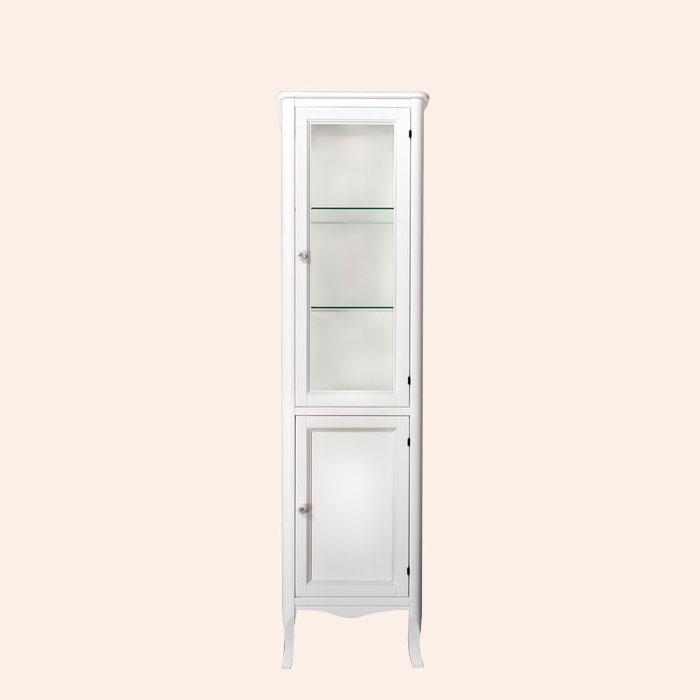 Veronica 4220 bi puro L Белый матовыйМебель для ванной<br>Шкаф-колонна TW  Veronica 4220 bi puro SX. 2 распашные дверки (лево), верхняя дверь стекло, цвет  bi puro (белый матовый), ручки керамика.<br>