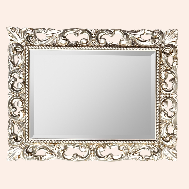 71139 серебро античноеМебель для ванной<br>Зеркало TW 71139 argento antico. Рама  дерево, отделка серебро античное.<br>