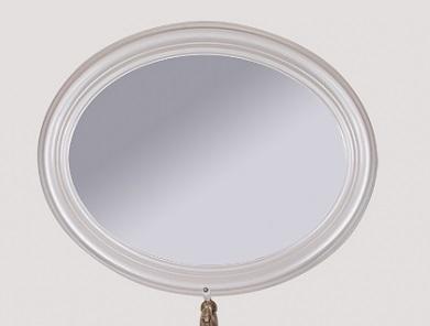 Palermo 7705 БелоеМебель для ванной<br>Зеркало TW Palermo 7705 овальное bi puro. Цвет белый.<br>