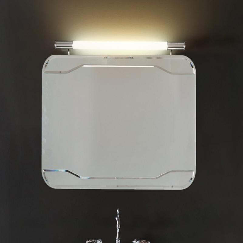 Waldorf 7407 80х70Мебель для ванной<br>Зеркало без рамы Kerasan Waldorf 7407 с выключателем.<br>