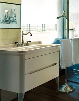 Waldorf 919130bi mat Белая матоваяМебель для ванной<br>База подвесная под раковину Kerasan Waldorf 919130bi mat 150 см, с 2-мя ящиками и 2-мя дверцами, цвет матовый белый.<br>