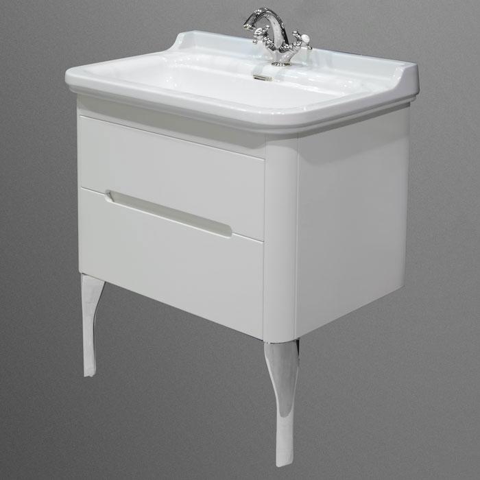 Waldorf  919330bi mat Белый матовыйМебель для ванной<br>Тумба под раковину Kerasan Waldorf 919330bi mat подвесная с 1 ящиком и 1 дверцей, цвет матовый белый.<br>