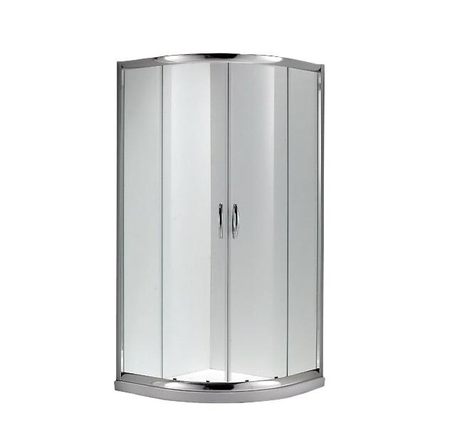 SR-1951 Алюминиевый профильДушевые ограждения<br>Толщина стекла 6мм, стекло прозрачное, алюминиевый профиль, цвет - блестящий хром, раздвижные двери.<br>