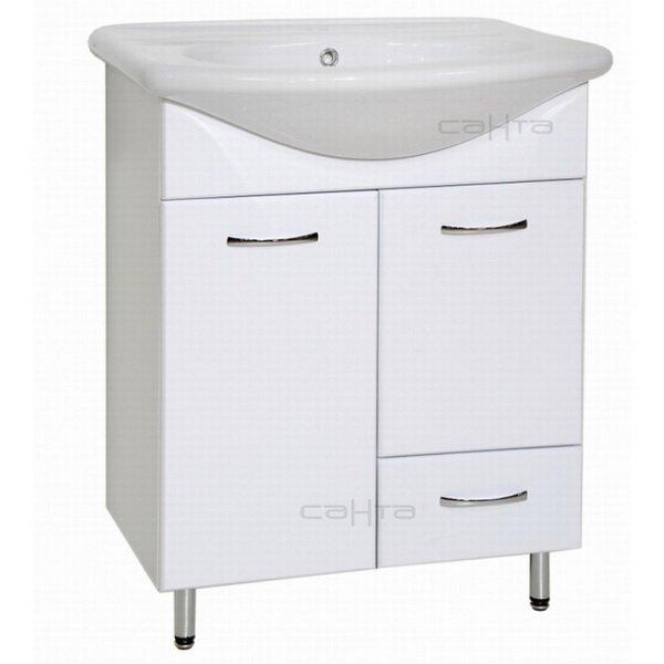 Лидия 70 1 ящик БелаяМебель для ванной<br>Тумба под раковину Санта Лидия 70 с 1 ящиком.   Покрытие фасад - пленка. Раковина приобретается отдельно.<br>