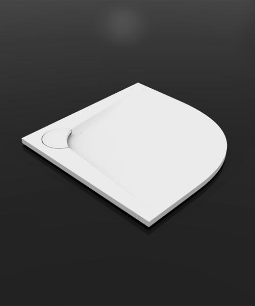 Boomerang  800х800 радиусный  БелыйДушевые поддоны<br>Душевой радиусный поддон Vayer Boomerang  800х800. Изготовлен из литого мрамора, который является сочетанием наивысшего качества смол с доломитовой мукой. Преимуществом душевого поддона является специально спроектированная маскировочная крышка сливного отверстия.<br>