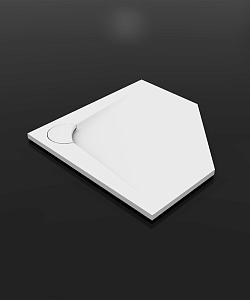 Boomerang 800х800 призматичный  БелыйДушевые поддоны<br>Душевой призматичный поддон Vayer Boomerang  800х800.  Изготовлен из литого мрамора, который является сочетанием наивысшего качества смол с доломитовой мукой. Преимуществом душевого поддона является специально спроектированная маскировочная крышка сливного отверстия.<br>