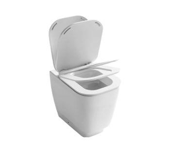 Fusion Q YXBY01 белыйУнитазы<br>Hatria Fusion Q YXBY01 Унитаз приставной. В комплекте: сиденье Soft Close, крепеж горизонтальный для моноблока Y0IQ01, крепеж к полу, сиденье Soft Close YXB3.<br>