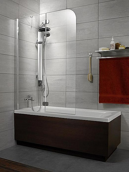 Шторка на ванну Radaway Torrenta PND 121 Стекло графитовое L шторка на ванну radaway torrenta pnd 121 стекло графитовое l