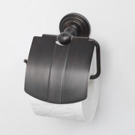 Isar K-7325 темная бронзаАксессуары для ванной<br>Держатель туалетной бумаги с крышкой WasserKRAFT Isar K-7325.<br>