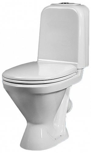 Унитаз-компакт Sanita Самарский люкс SMRSACC01060711 с бачком и сиденьем унитаз компакт напольный sanita виктория комфорт