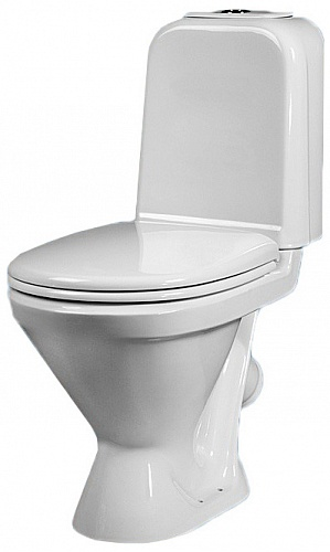 Унитаз-компакт Sanita Самарский эконом SMRSACC01090111 с бачком и сиденьем унитаз компакт напольный sanita виктория комфорт