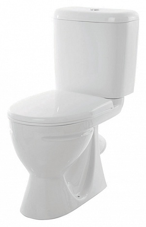 Унитаз-компакт Sanita Стандарт эконом SDTSACC01090112 с бачком и сиденьем унитаз компакт напольный sanita виктория комфорт