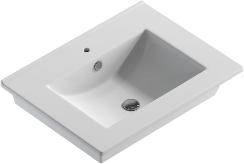Quadro 60 БелаяРаковины<br>Раковина Sanita Luxe Quadro 60 с хромированным обрамлением. Раковина может быть инсталлирована на мебельную тумбу, столешницу или кронштейны, в зависимости от выбранного стиля интерьера.<br>