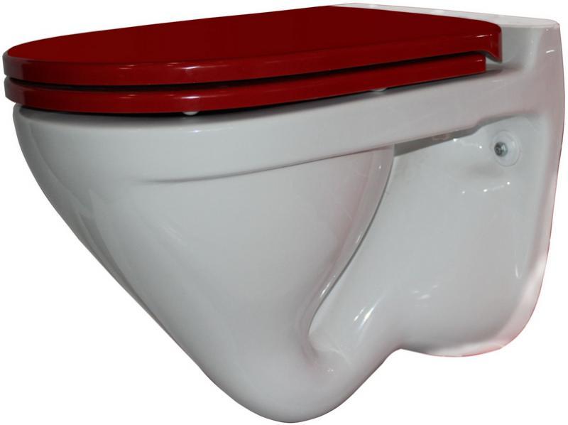 Унитаз Sanita Luxe Attica Luxe Color Red ATCSLWH0111 Белый с красным сиденьем Микролифт писсуар sanita luxe long белый lngslur01