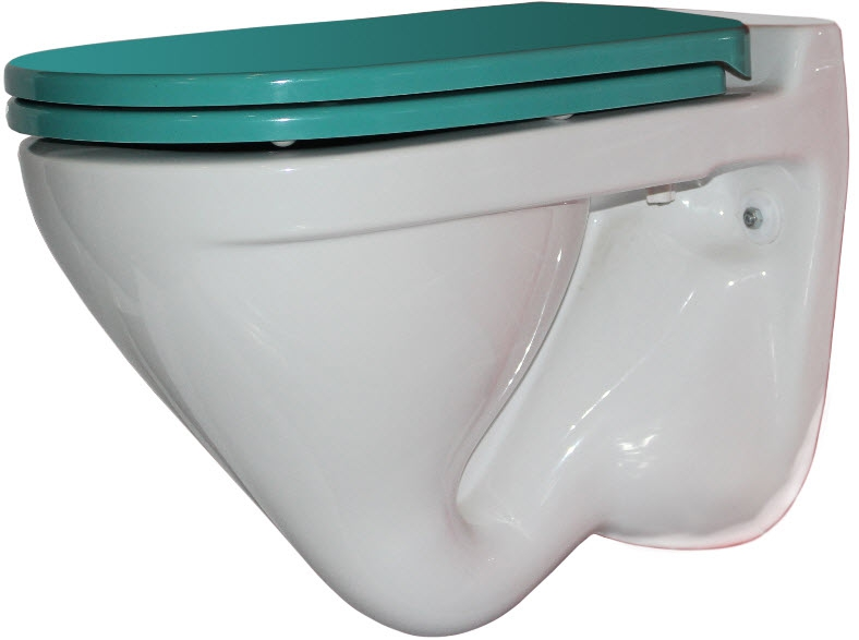 Унитаз Sanita Luxe Attica Luxe Color Sea ATCSLWH0112 Белый с зеленым сиденьем Микролифт цена в Москве и Питере
