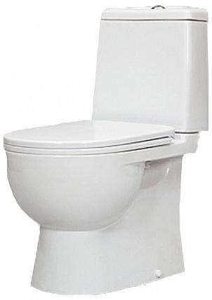 Унитаз Sanita Luxe Best Luxe SL DM BSTSLCC04020522 Белый с бачком и сиденьем Микролифт унитаз компакт santiline sl 5012 с сиденьем микролифт