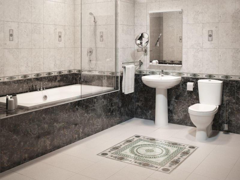 Керамическая плитка М-Квадрат Цезарь 25х40 настенная серая 122571 керамическая плитка м квадрат fiori белая 25х40 настенная