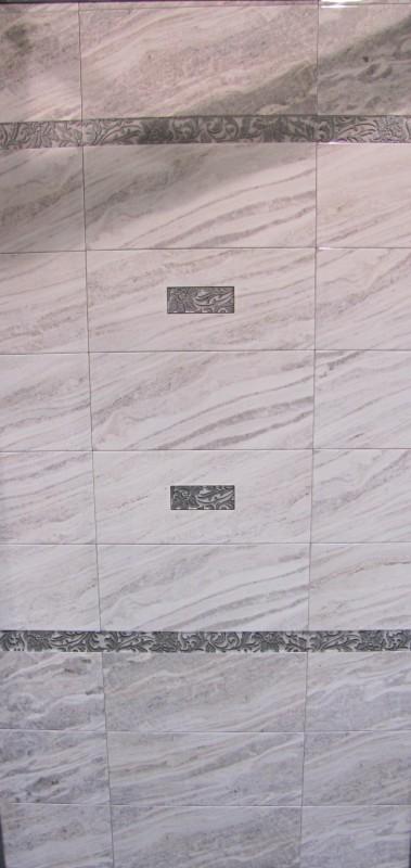 Керамическая плитка М-Квадрат Скай Блю 20х45 декор 2 (с вырезом) 334572