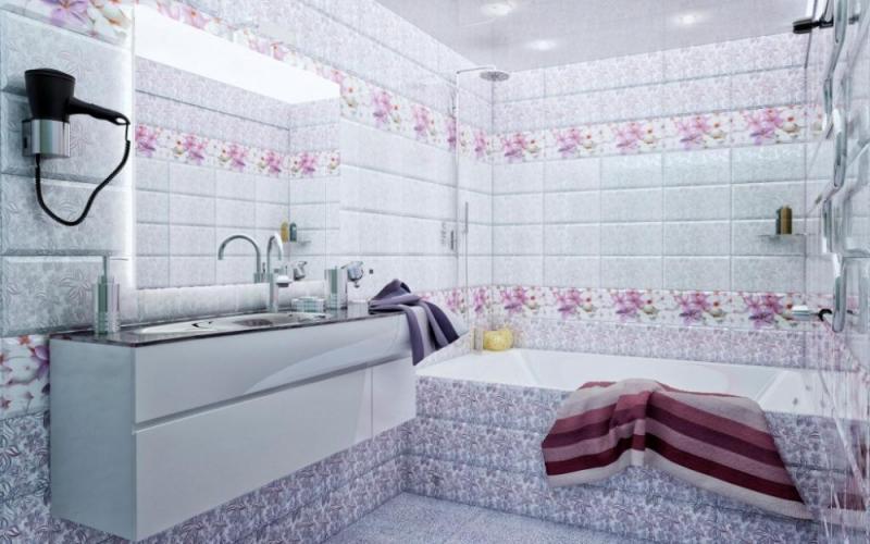 Керамическая плитка М-Квадрат Виолет 20х45 настенная декоративная 136883 кашпо виолет квадрат цветы с поддоном 3 5 л