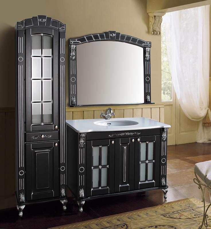 Александрия 100 ivory (серебро)Мебель для ванной<br>Тумба Атолл Александрия 100 со встроенной раковиной Vidima W504801.<br>
