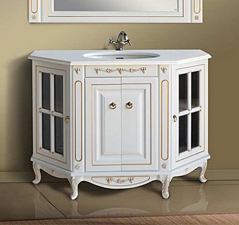 Верона 120K scuro (скуро)Мебель для ванной<br>Тумба Атолл Верона 120K со встроенной столешницей и раковиной Devit.<br>