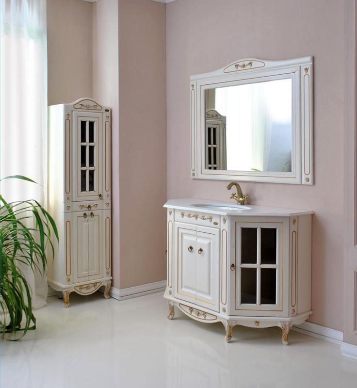 Верона 120 dorato (золото)Мебель для ванной<br>Тумба Атолл Верона 120 со встроенной столешницей и раковиной Vidima W504801.<br>