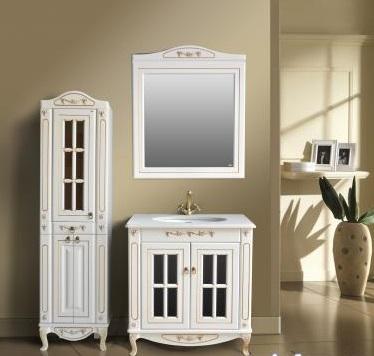 Верона 85К витрина  scuro (скуро)Мебель для ванной<br>Тумба Атолл Верона 85K витрина со встроенной столешницей и раковиной Devit.<br>