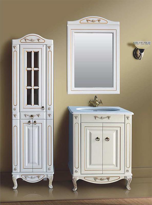 Верона 65К scuro (скуро)Мебель для ванной<br>Тумба с раковиной Атолл Верона 65К со встроенной столешницей и раковиной Devit.<br>