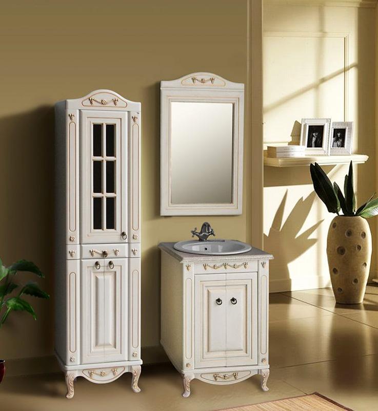 Верона 65 dorato (золото)Мебель для ванной<br>Тумба Атолл Верона 65 со встроенной столешницей и раковиной Vidima W504801.<br>