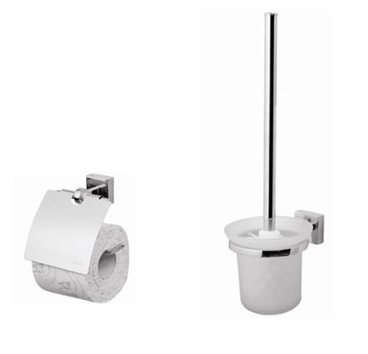 Joy Set 2 ХромАксессуары для ванной<br>Набор аксессуаров AM PM Joy Set 2, состоящий из держателя для туалетной бумаги AM PM Joy A85341400 и стойки с туалетной щеткой AM PM Joy A8533300.<br>