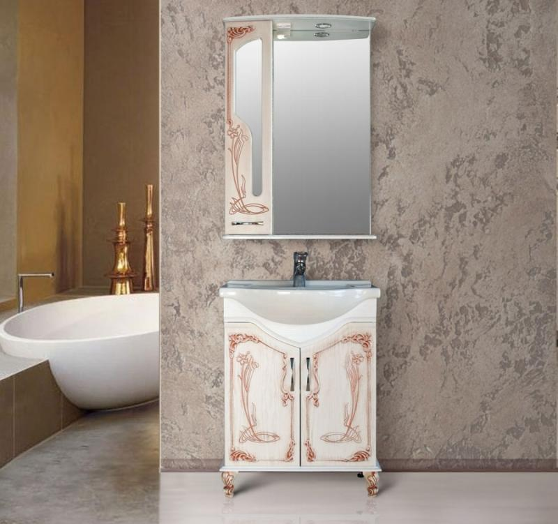 Барселона 265 rame (белое дерево медь)Мебель для ванной<br>Тумба Атолл Барселона 265 в комплекте с раковиной Байкал 65.<br>