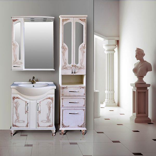 Барселона 275 rame (белое дерево медь)Мебель для ванной<br>Тумба с раковиной Атолл Барселона 275.<br>