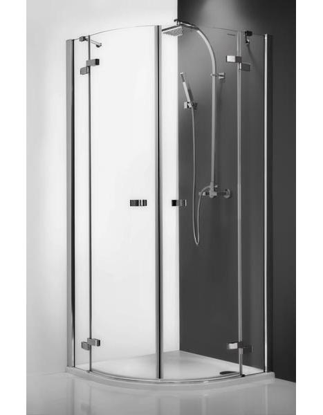Elegant Line GR2/900 профиль brillant, стекло прозрачноеДушевые ограждения<br>Душевой уголок Roltechnik Elegant Line GR2/900. Ширина входа: 500 мм. Толщина стекла 6-8 мм. Две распашные полукруглые двери с плавным закрыванием и стоп функцией при открытом положении <br>Ручки и петли: интегрированные, изготовлены из хромированной латуни. Профиль Brilliant Easy Install, полированный алюминий. Материал: прозрачное безопасное стекло.<br>