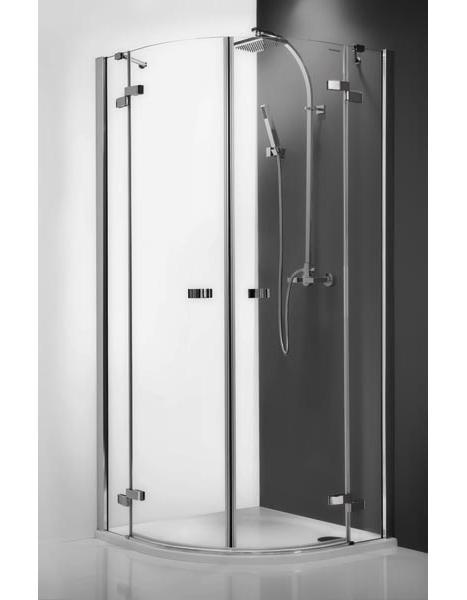 Elegant Line GR2/1000 профиль brillant, стекло прозрачноеДушевые ограждения<br>Душевой уголок Roltechnik Elegant Line GR2/1000. Ширина входа: 500 мм. Толщина стекла 6-8 мм. Две распашные полукруглые двери с плавным закрыванием и стоп функцией при открытом положении. <br>Ручки и петли: интегрированные, изготовлены из хромированной латуни. Профиль Brilliant Easy Install, полированный алюминий. Материал: прозрачное безопасное стекло.<br>