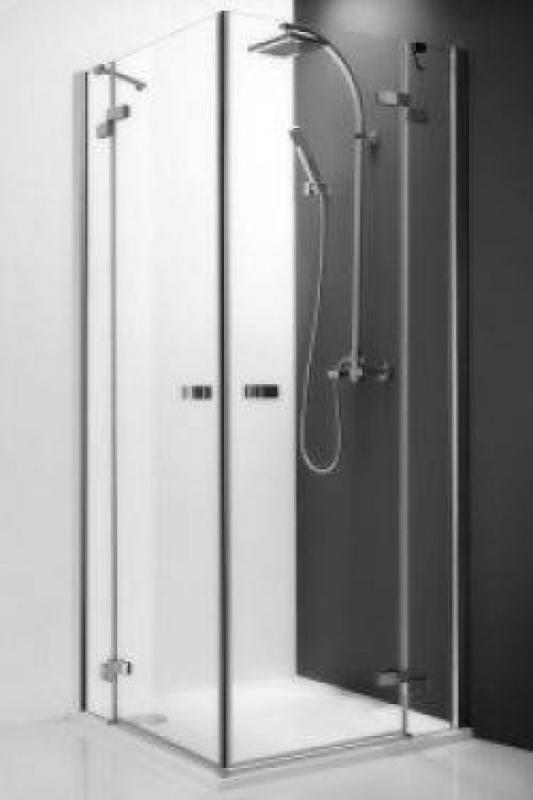 Elegant Line GDOL1/800 профиль brillant, стекло прозрачное PДушевые ограждения<br>Душевая дверь распашная Roltechnik Elegant Line GDOР1/800, петли справа, с  плавным закрыванием и стоп функцией при открытом положении.  Ширина входа 525 мм.<br>Латунные хромированные петли и ручки. <br>Высокоэластичные герметизирующие уплотнители.  Толщина стекла 6-8 мм.<br>