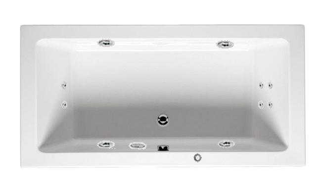 Lusso 180x90 с гидромассажем Optima HMВанны<br>Акриловая ванна Riho Lusso 180. В комплектацию входит: гидромассажная система OPTIMA HM: 6 микрофорсунок d=32 мм (спинной массаж 4 штуки, ножной массаж 2 штуки), 4 форсунки d=64 мм по периметру, водозаборник, кнопка пуска HM и регулятор воздуха, cточный комплект Alcaplast A55K и металлический каркас. Фронтальная и торцевая панель приобретаются отдельно.<br>