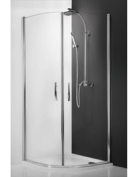 Tower Line TR1/1000 Профиль brillant/стекло прозрачноеДушевые ограждения<br>Душевой уголок Roltechnik Tower Line TR1/1000 brillant с 2-мя распашными дверьми.  Двери открываются внутрь и наружу. Ширина входа 760 мм. Профиль brillant, полированный алюминий с интегрированным магнитом. Материал прозрачное безопасное стекло. Толщина стекла 6 мм. Уплотнители высокоэластичные герметичные.<br>